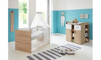 BMG Babymöbel-Set »Maxim«, (Set, 3 tlg.), Bett + Wickelkommode + Unterstellregal kaufen