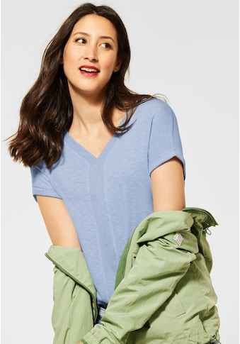 STREET ONE V-Shirt, mit Kontraststreifen kaufen