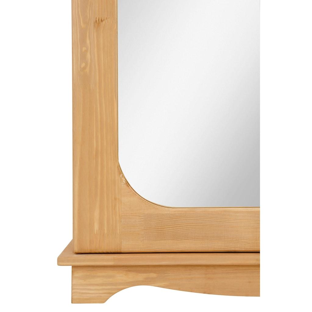 Home affaire Schuhschrank »Broga«, aus massiver Kiefer mit Spiegeltür