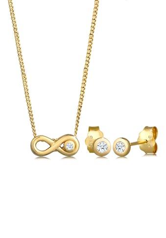 Diamore Schmuckset »Infinity Solitär Diamant (0.08 ct.) 585 Gelbgold« kaufen