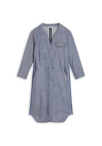 Sandwich Denim-Blusenkleid mit Paspel kaufen
