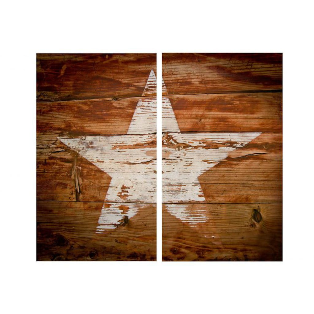 Wall-Art Herd-Abdeckplatte »Herdabdeckplatte Vintage Star«, (1 tlg.)