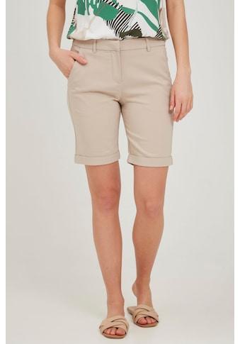 fransa Shorts »Fransa Damen Chinoshorts«, Chinoshorts mit Aufschlag kaufen