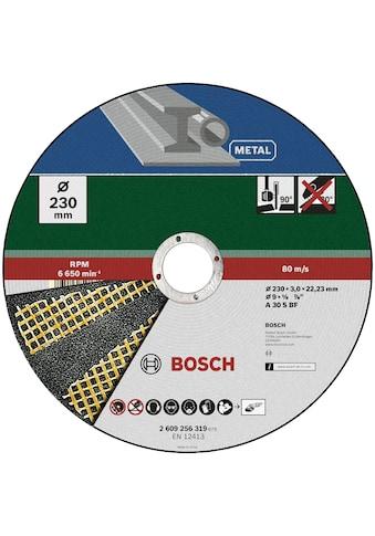 BOSCH Trennscheibe »Trennscheibe Metall (für Winkelschleifer, Ø 230 mm, gerade)« kaufen