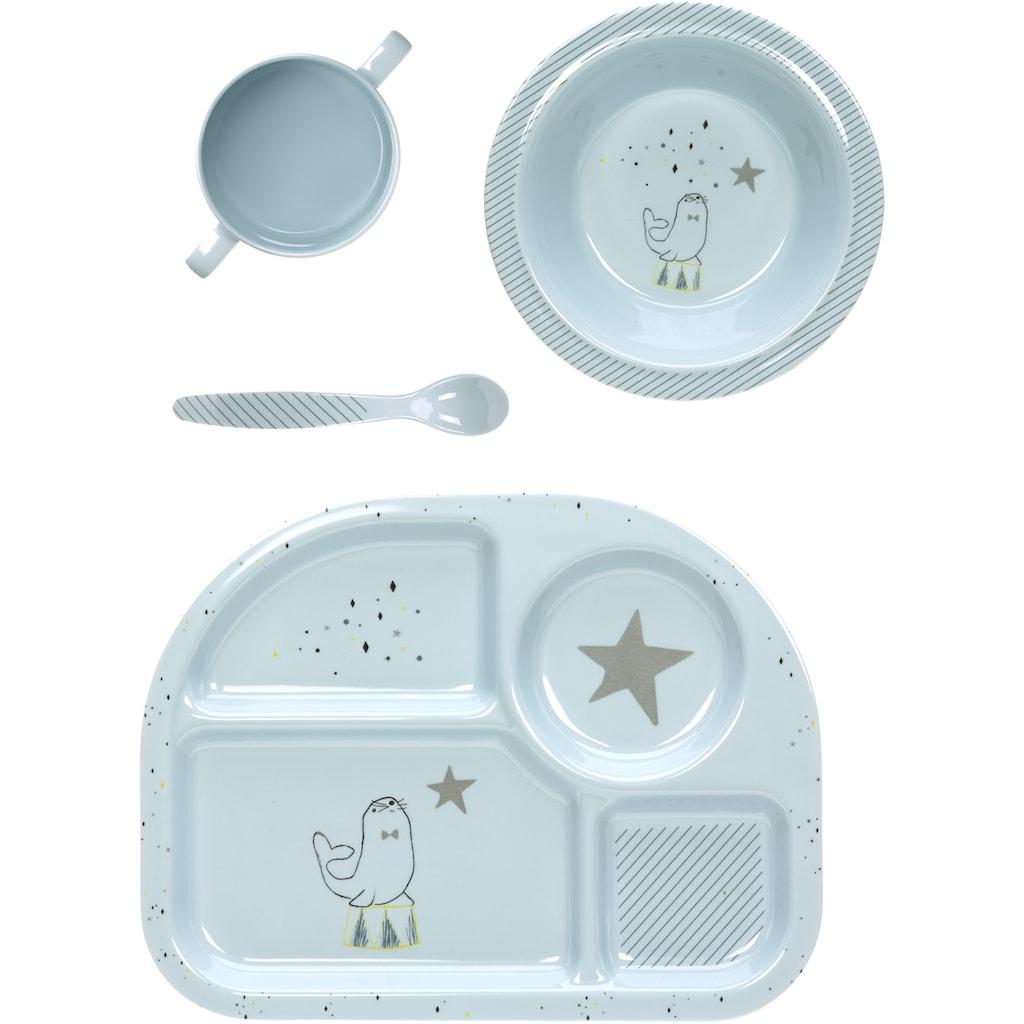 LÄSSIG Kindergeschirr-Set »More Magic Seal«, (4 tlg.)