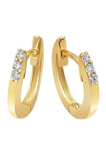 goldmaid Paar Creolen Memoire 585/- Gelbgold 6 Brillanten 0,10 ct. kaufen