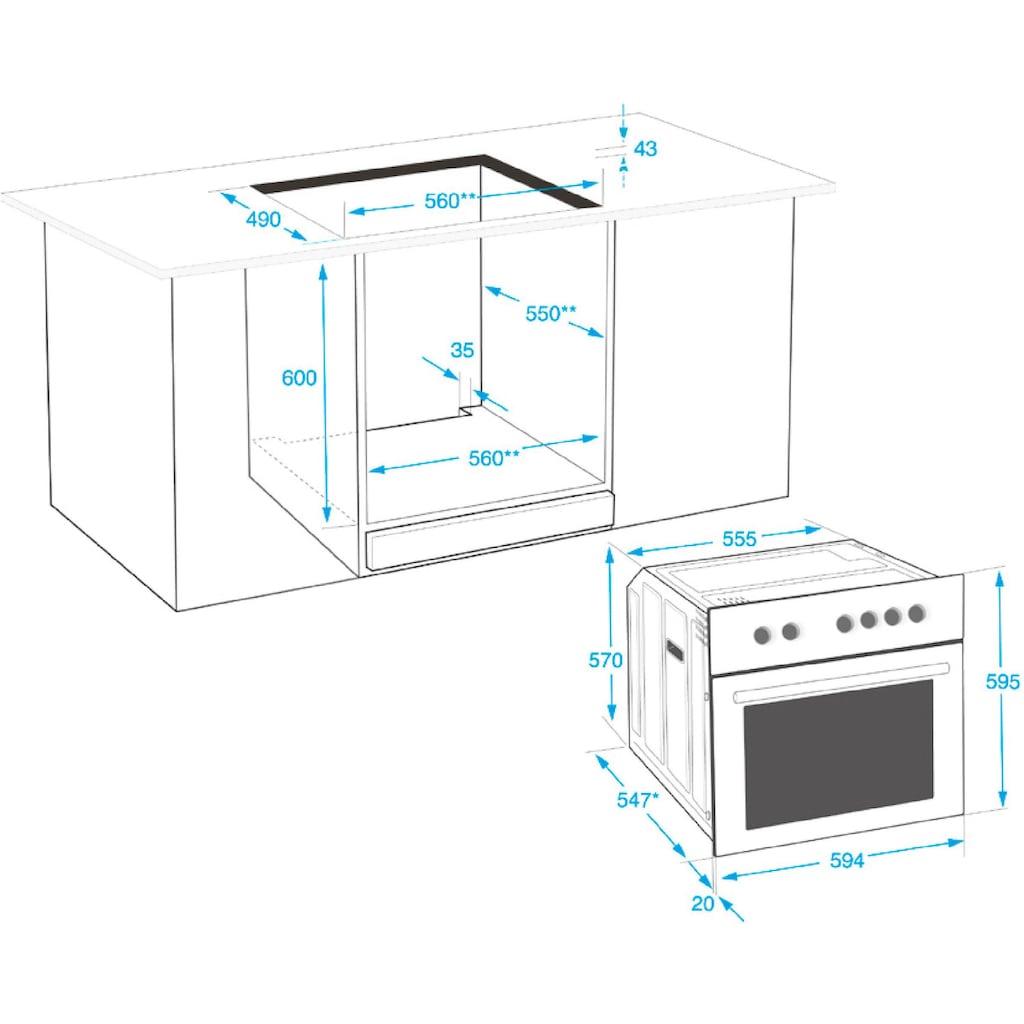 BEKO Elektro-Herd-Set »BUM22323X1«, BUM22323X1, mit 2-fach-Teleskopauszug, Simple Steam Reinigungsfunktion, (Set), mit SimpleSteam