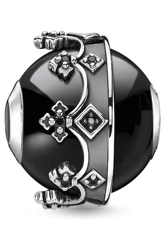 THOMAS SABO Bead »Krone schwarz, K0348-641-11«, mit Onyx und Zirkonia kaufen