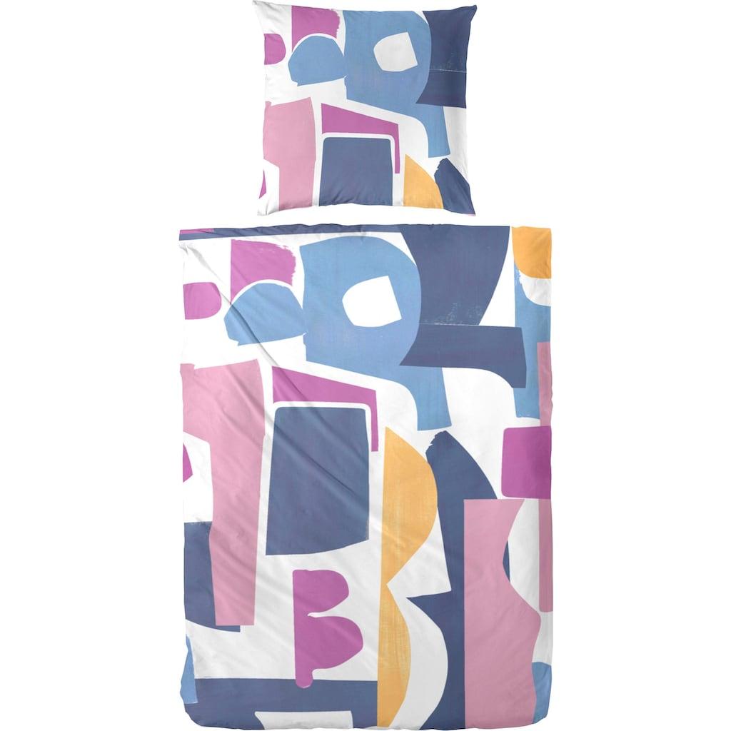 Primera Bettwäsche »puzzle«, mit strukturierten und kunstvoll angeordneten Formen