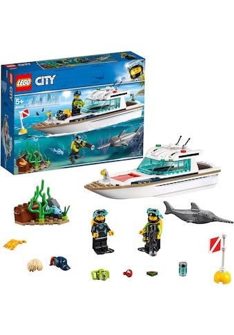 LEGO® Konstruktionsspielsteine »Tauchyacht (60221), LEGO® City«, (148 St.), Made in... kaufen