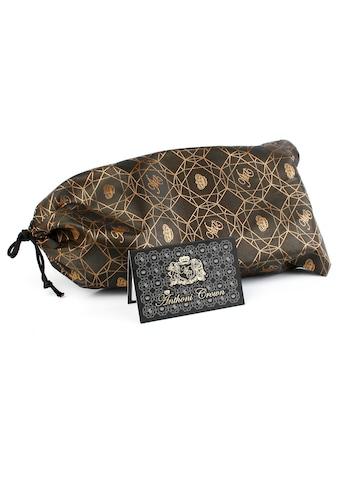 Anthoni Crown Ledergürtel, mit silberfarbener Glas-Schließe kaufen