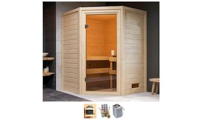 Karibu Sauna »Anni«, 4,5-kW-Ofen mit int. Steuerung kaufen