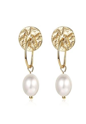 AILORIA Paar Ohrhänger »SUZU Ohrringe gold/weiße Perle«, Glänzendes Finish kaufen