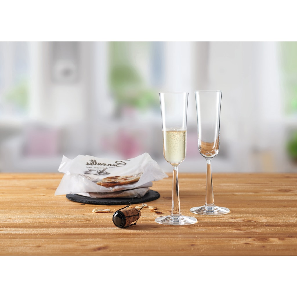 montana-Glas Sektglas »:now«, (Set, 6 tlg.), 170 ml, Quotanglas, spülmaschinenfest, 6-teilig