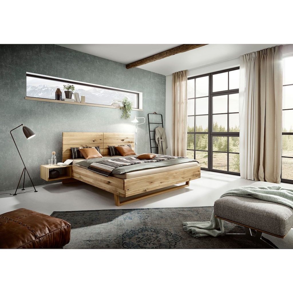 ADA premium Massivholzbett »Gisele«, inkl. Nachtkonsolen, wahlweise mit Matratze und Lattenrost