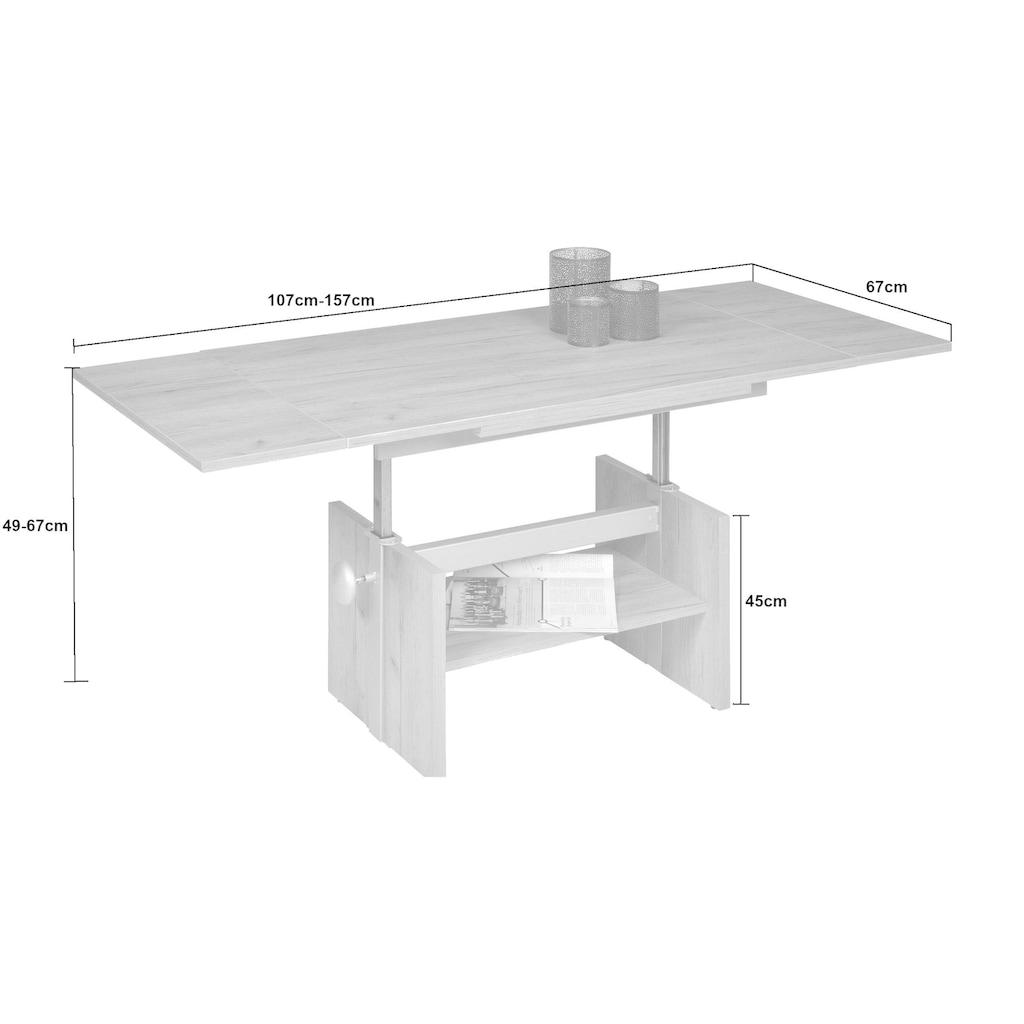 PRO Line Couchtisch »Avant«, höhenverstellbar mit Lift, wahlweise ausziehbar