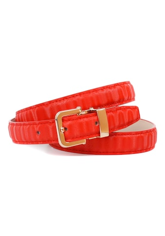 Anthoni Crown Ledergürtel, Gürtel aus innovativem Leder mit kleiner eckiger Schließe kaufen