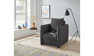 INOSIGN Polstergarnitur »Tiny Mike«, (2 tlg.), Verwandlungssessel - Hocker im Sessel... kaufen