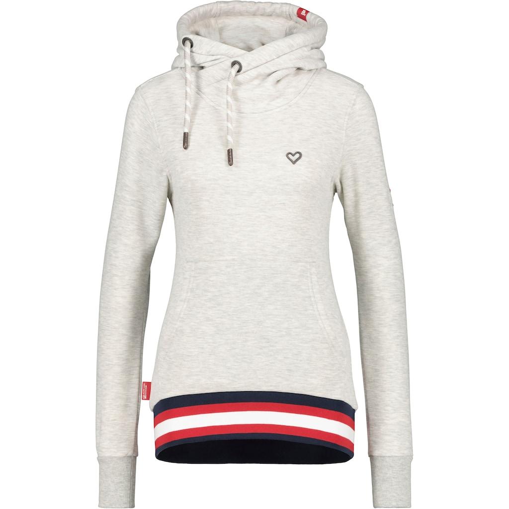 Alife & Kickin Sweatshirt »SarahAK«, Kapuzen-Longsweater mit breitem sportivem Kontrastbündchen