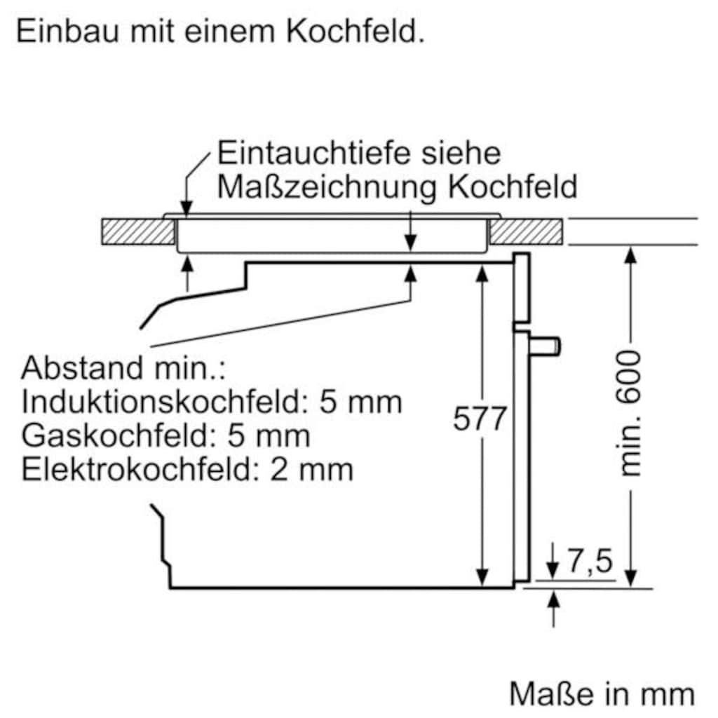 SIEMENS Pyrolyse Backofen »HB678GBS6«, HB678GBS6, mit Teleskopauszug nachrüstbar, Pyrolyse-Selbstreinigung