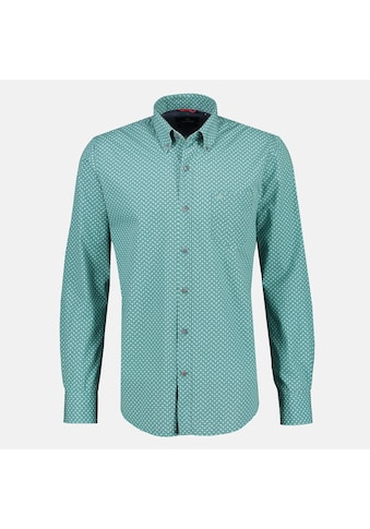 LERROS Langarmhemd, mit modischem Minimalprint und Button-Down-Kragen kaufen