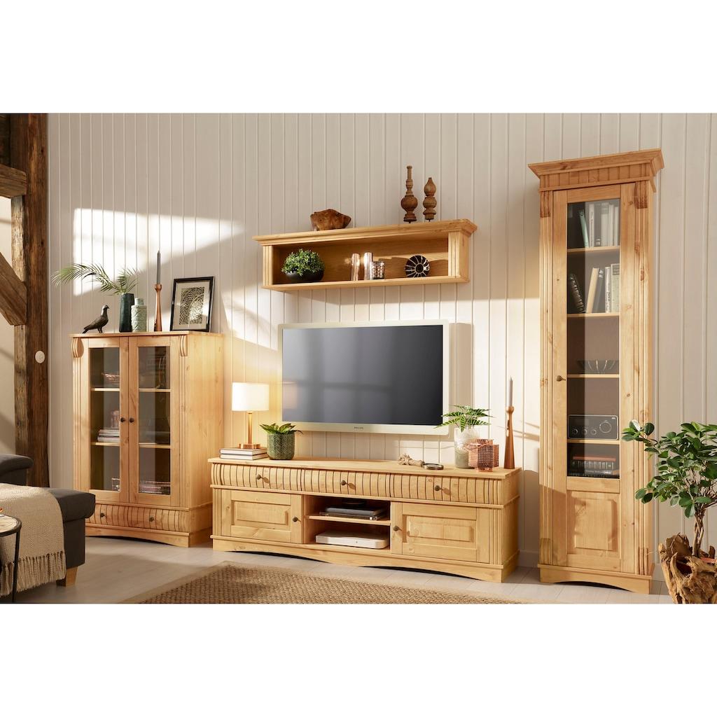 Home affaire Vitrine »Teresa«, mit 2 Glastüren und 2 Schubladen, Höhe 120 cm
