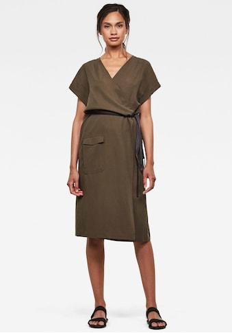 G-Star RAW Wickelkleid »Wrap Kleid«, in Wickeloptik mit verstellbaren Gürtel kaufen