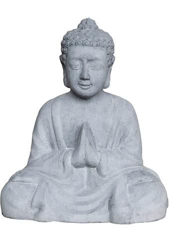 GILDE Buddhafigur »Buddha/sitzend Bigio, Höhe 50 cm«, Beton-Optik, handgefertigt, In-... kaufen