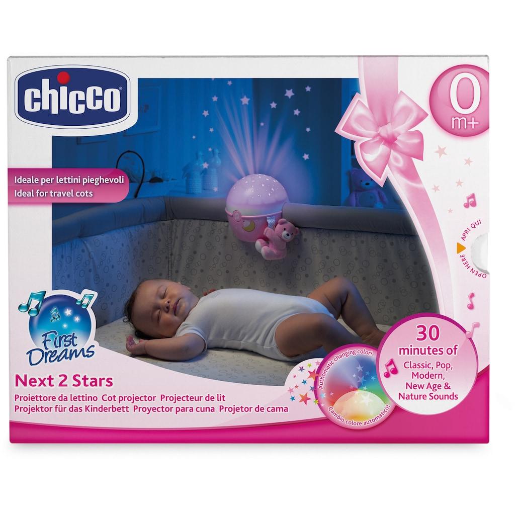 Chicco Nachtlicht »First Dreams Next 2 Stars, Rosa««, mit Projektor und Soundfunktion