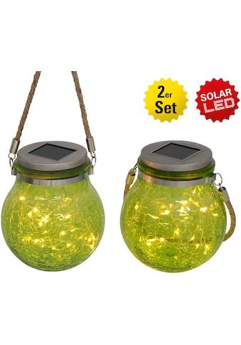 näve LED Gartenleuchte »DEKOGLAS«, LED-Board, Warmweiß, Set, 2 Stück kaufen