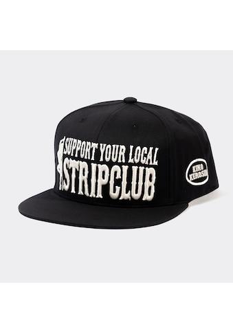 KingKerosin Flat Cap »Support your local Stripclub«, mit Statement-Stickerei und Print kaufen