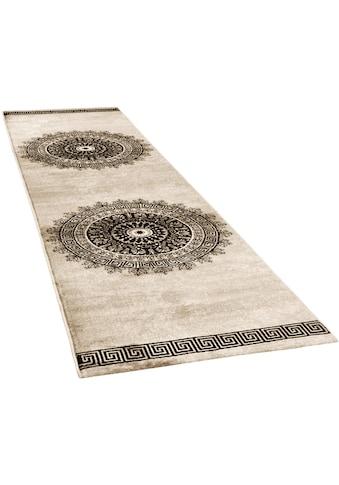 Paco Home Läufer »Tibesti 081«, rechteckig, 16 mm Höhe, Teppich-Läufer, Kurzflor, gewebt, Mandala Muster in dezenten Farbtönen kaufen