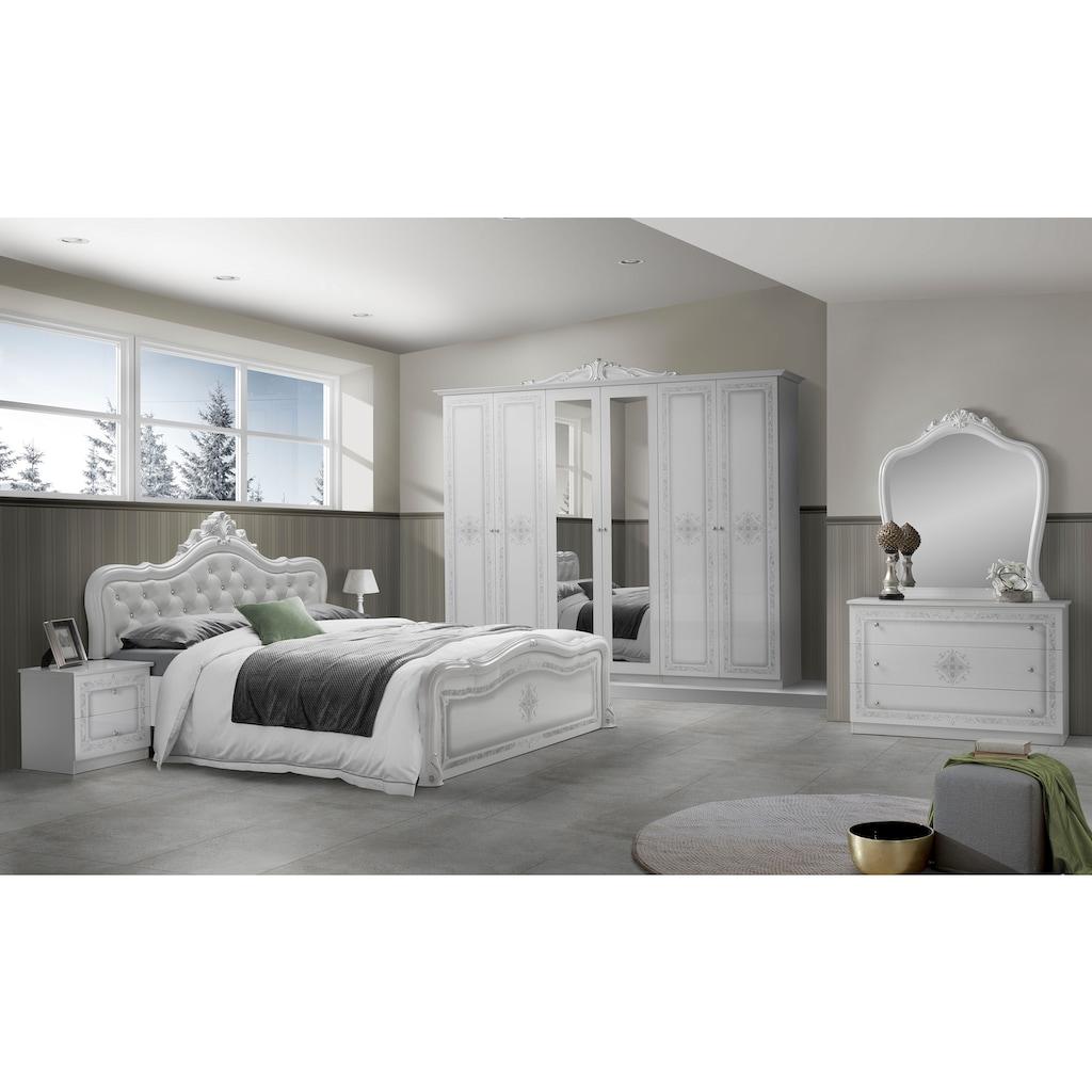 Schlafkontor Nachtkommode »Luiza«, (2 St.), im Barockstil