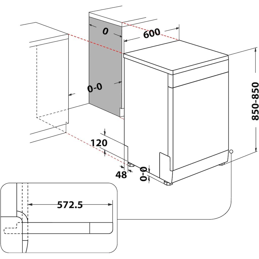 BAUKNECHT Standgeschirrspüler »BFC 3C26«, BFC 3C26 (2), 14 Maßgedecke