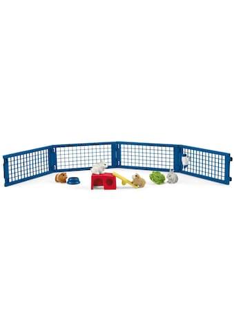 Schleich® Spielfigur »Farm World, Zuhause für Kaninchen und Meerschweinchen (42500)«,... kaufen