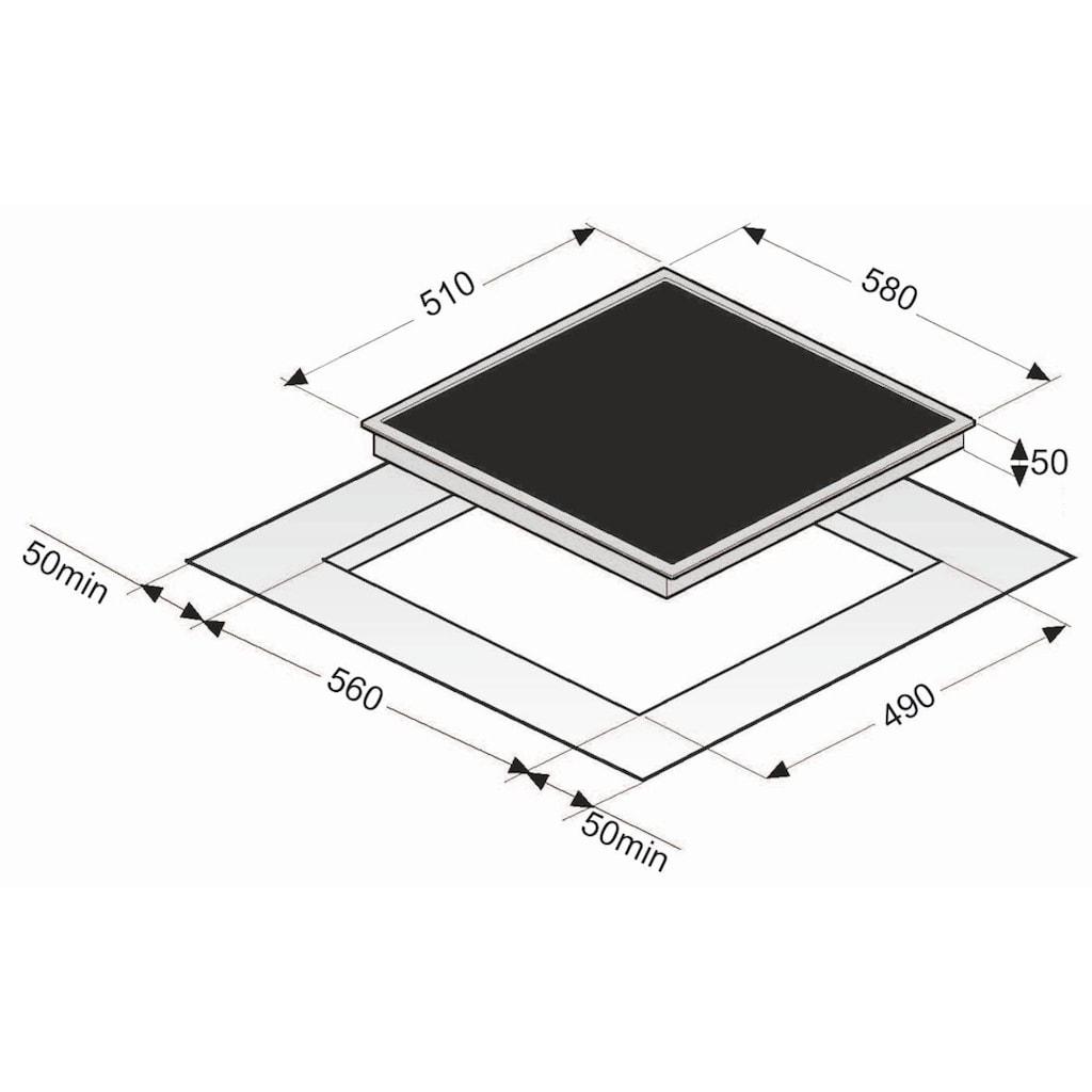 exquisit Elektro-Kochfeld, EKC 601-2.1, mit automatischer Abschaltung