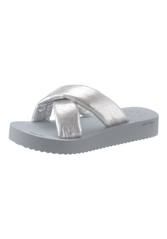 Flip Flop Pantolette »plateau*chick«, mit modischer Kreuz-Bandage kaufen