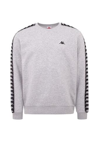 Kappa Sweatshirt »ILDAN«, mit hochwertigem Jacquard Logoband an den Ärmeln kaufen