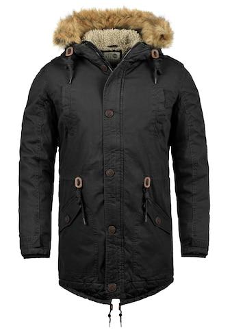 Solid Winterjacke »Clarki Teddy«, warme Jacke mit abnehmbarem Kunstfellkragen kaufen