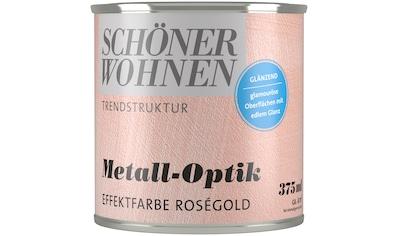 SCHÖNER WOHNEN-Kollektion Wandfarbe »Metall-Optik Effektfarbe roségold«, glänzend 0,375 l kaufen