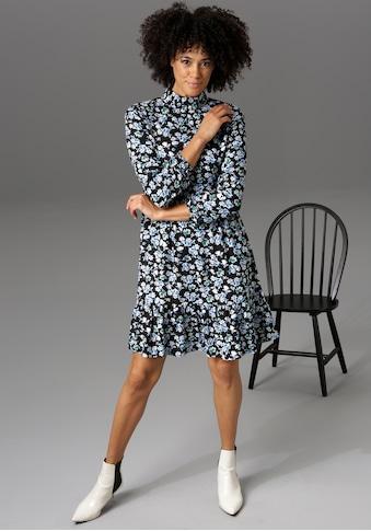 Aniston CASUAL Volantkleid, mit Stehkragen und verdecktem Reißverschluss im Rücken -... kaufen
