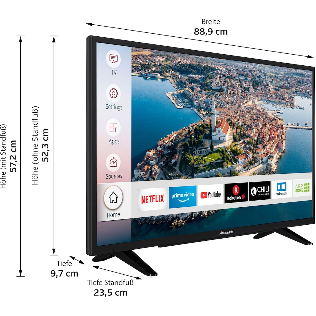 "Hanseatic LED-Fernseher »39H510HDS«, 98 cm/39 "", HD ready, Smart-TV"