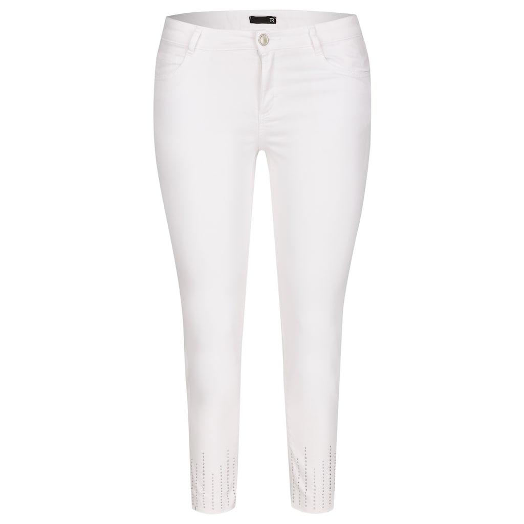 Thomas Rabe Jeans mit Saumschlitzen und Ziersteinen