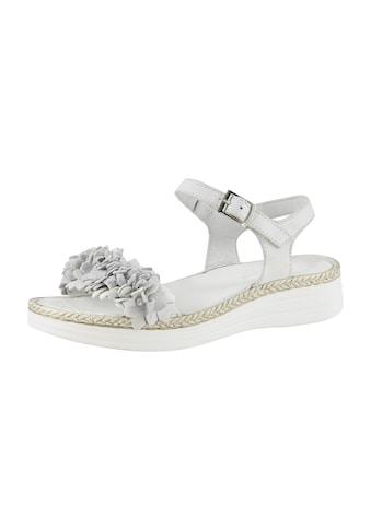 Sandalette mit dekorativen Blütenband kaufen