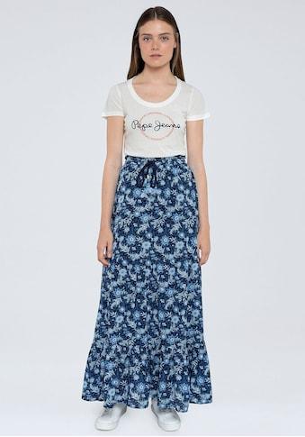 Pepe Jeans Sommerrock »MARGOT«, im floralen Design kaufen