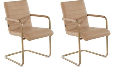 Leonique Esszimmerstuhl »Amadis«, 2er Set, mit einem edlen Metallgestell, pflegeleichtem Kunstleder Bezug, in zwei verschiedenen Farbvarianten, Sitzhöhe 47 cm kaufen
