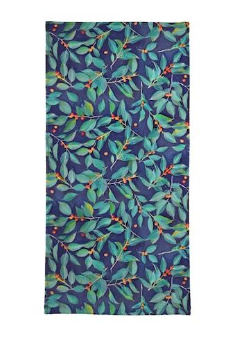 Juniqe Handtuch »Leaves & Berries on Blue«, (1 St.), Weiche Frottee-Veloursqualität kaufen