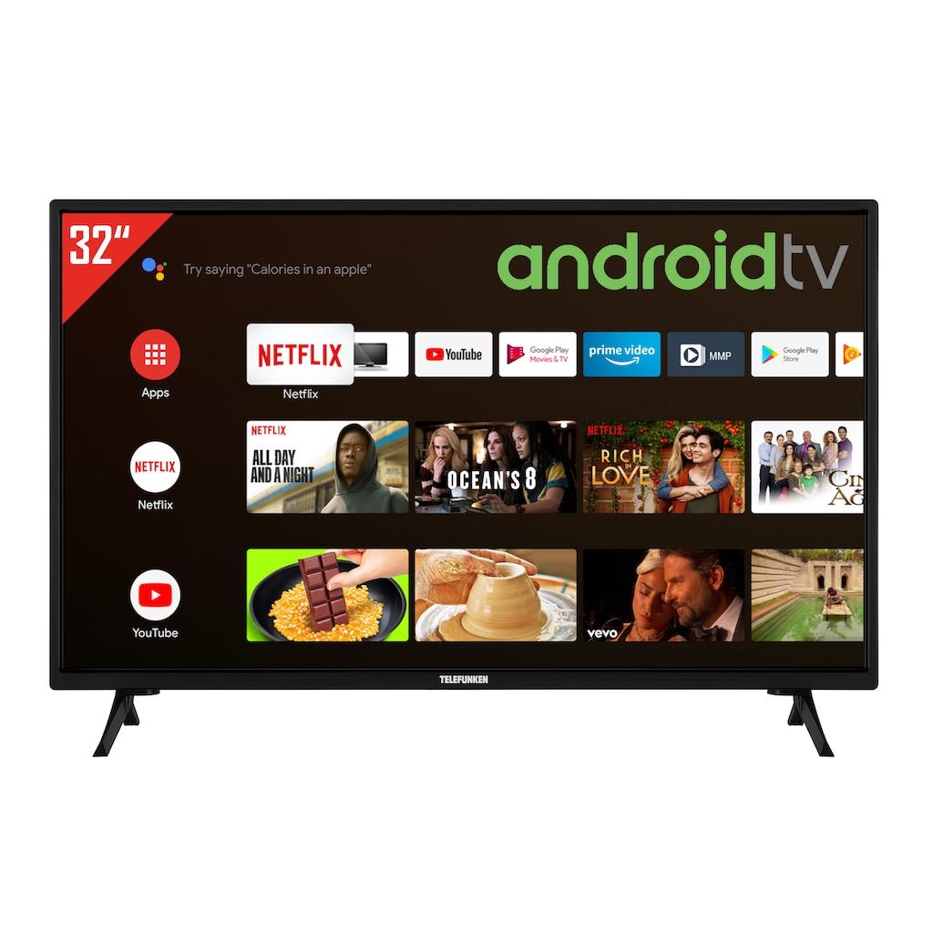 "Telefunken LED-Fernseher »XH32AJ600«, 80 cm/32 "", HD-ready, Google TV-Android TV"
