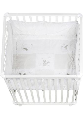 roba® Laufgitter »Fox & Bunny, 100x100«, bis 1 kg, mit Laufgittereinlage kaufen