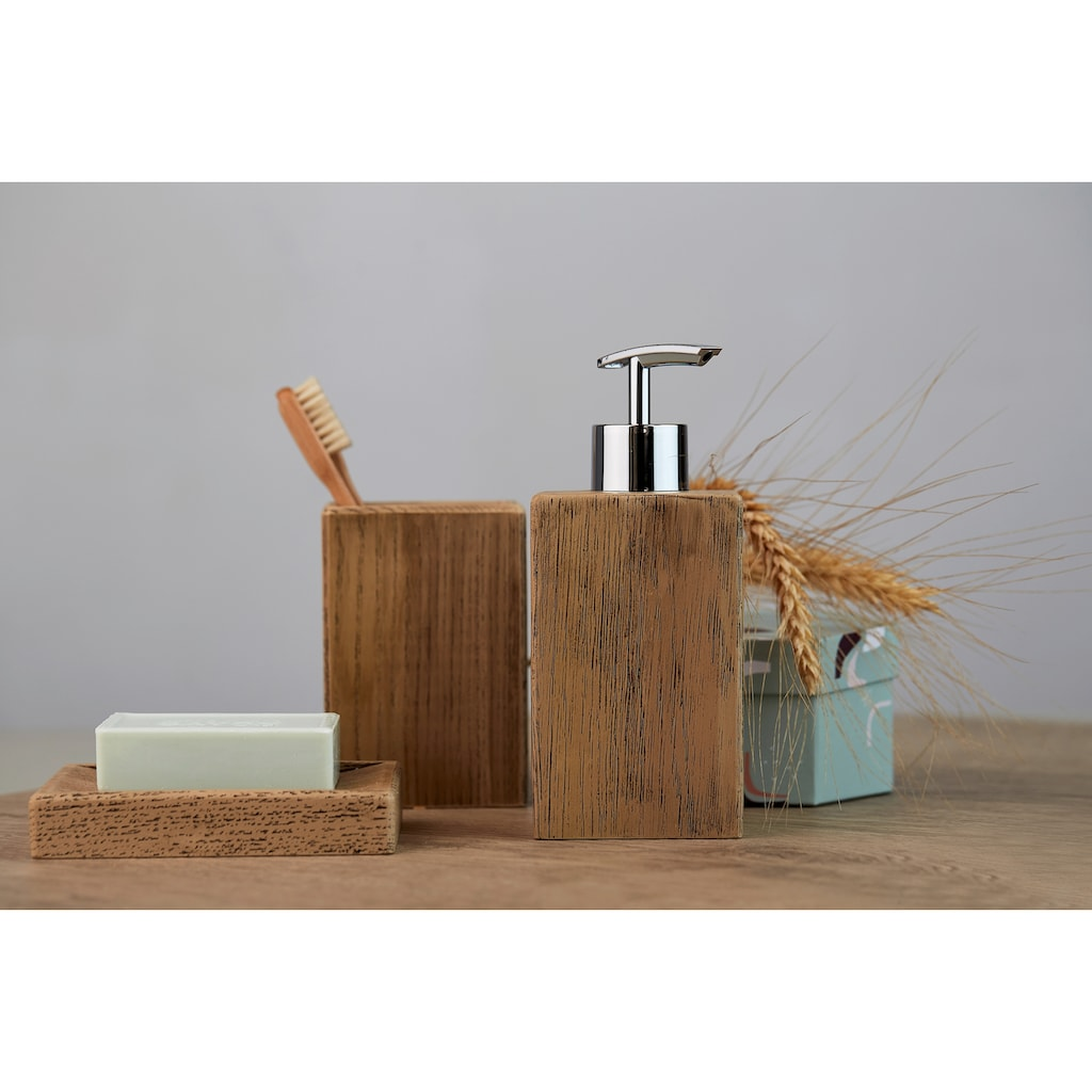 WENKO Seifenspender »Marla«, Holzoptik
